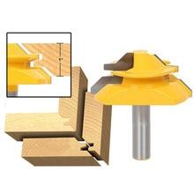 Fresadora profesional de Cuchilla de recorte, herramienta para carpintería, 9 tamaños, 45 grados, broca para ranuradora de inglete, 1 ud.