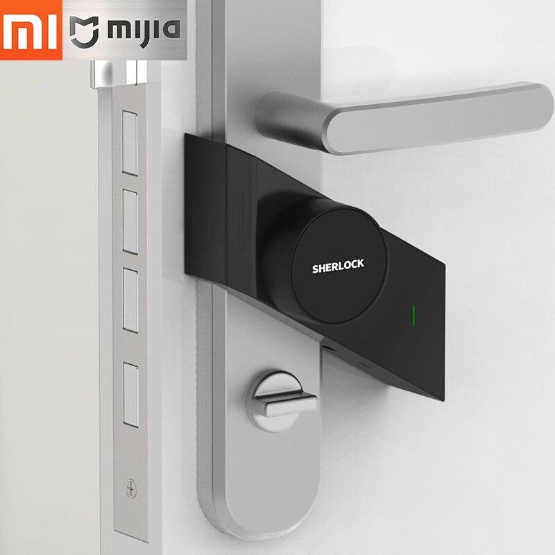 купить Original Xiaomi Sherlock smart lock M1 mijia Smart door lock Keyless Fingerprint+Password work to mi home app phone control по цене 6731.75 рублей