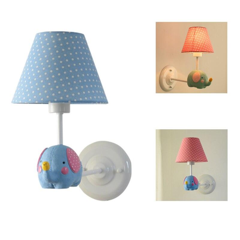 Childrens Wall Lamp: Baby Bedroom Cartoon Animal Wall Light Lamp Bedside Child
