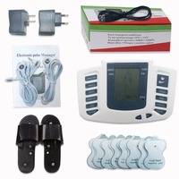 Slipper 16pcs Electrode Pads Electrical Muscle Stimulator Body Relax Massager Pulse Tens Acupuncture Therapy Digital Machine