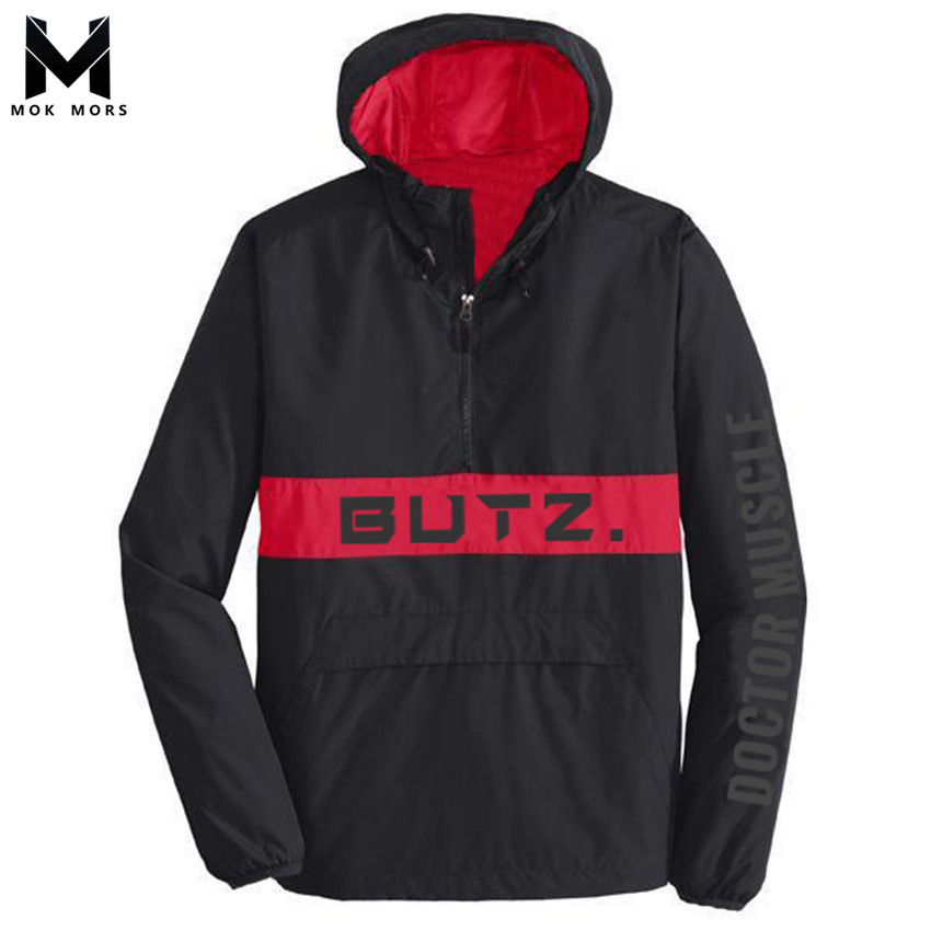 Sweatshirts Men Hooded Stitching Spring Thin-Section Long-Sleeved Cotton Fashion-Brand