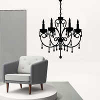Fashion chandelier Self Adhesive Vinyl Wallpaper Pvc Wall Decals Background Wall Art Decal Living Room Mural Bedroom Decor