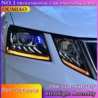 OUMIAO Car Styling For Skoda Octavia Headlights 2018 New Octavia ALL LED Headlight LED DRL Lens High Low Beam Parking