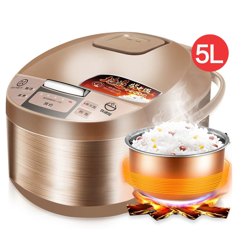 DMWD 5L Large Capacity Home Intelligent Electric Rice Cooker Food Steamer Saucepan For 4-8 People 220V 10 Hour Appointment rice cooker intelligent household high capacity fully automatic 2 8 people 5l capacity reservation spherical hyun kettle