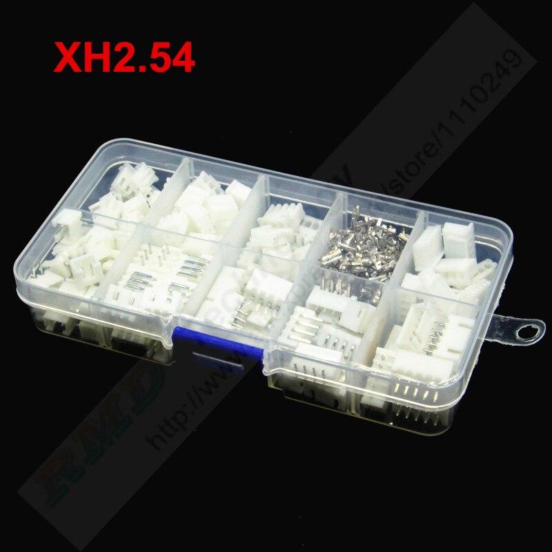 60 комплектов XH2.54 в коробке 2 3 4 5 контактов 2,54 мм корпус шага + терминал + штырьковый разъем под прямым углом соединители для проводов адаптер