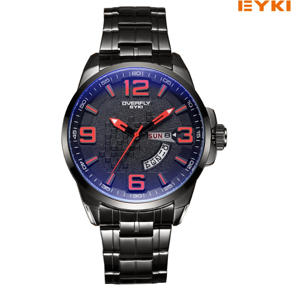 2017 New Top Luxury Brand EYKI Watch men Quartz-Watches Man stainless steel Casual Business Waterproof Wrist Watch Man Relogio new eyki brand couple watches tables fashion formal stainless steel strap waterproof quartz watch ladies watch men s watches