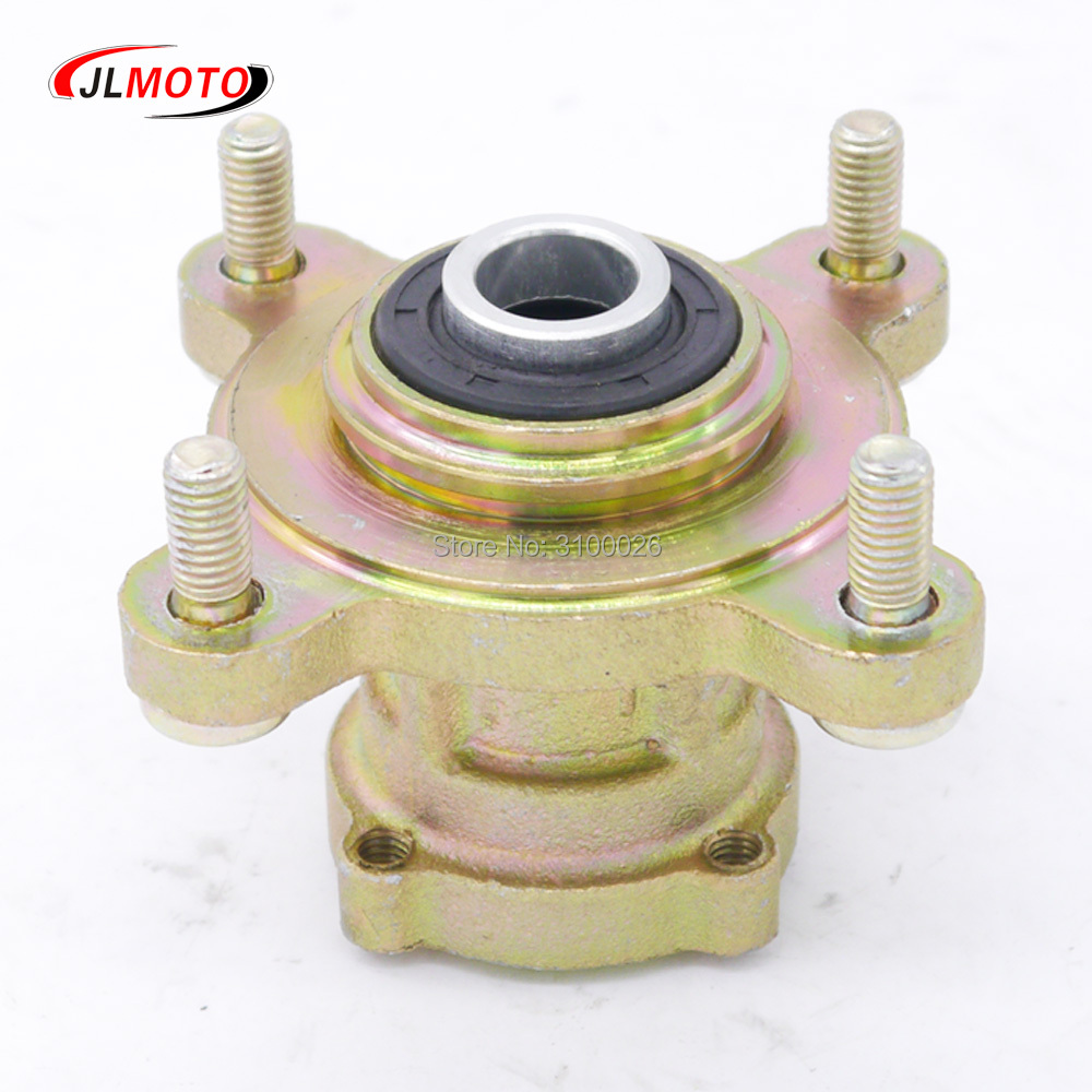 Front 17mm 4 Stud Brake Disc Wheel Hub Fit For 49cc 50cc 110cc 125cc 6 7 8 Inch Wheel Go Kart Buggy Karting Atv Quad Bike Parts Possessing Chinese Flavors Atv Parts & Accessories