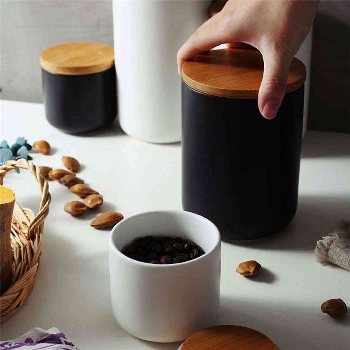 260 مللي/800 مللي مختومة جرة تخزين من السيراميك ل التوابل خزان Containter ل الأكل مع غطاء القهوة الشاي القهوة السكر المطبخ زجاجة