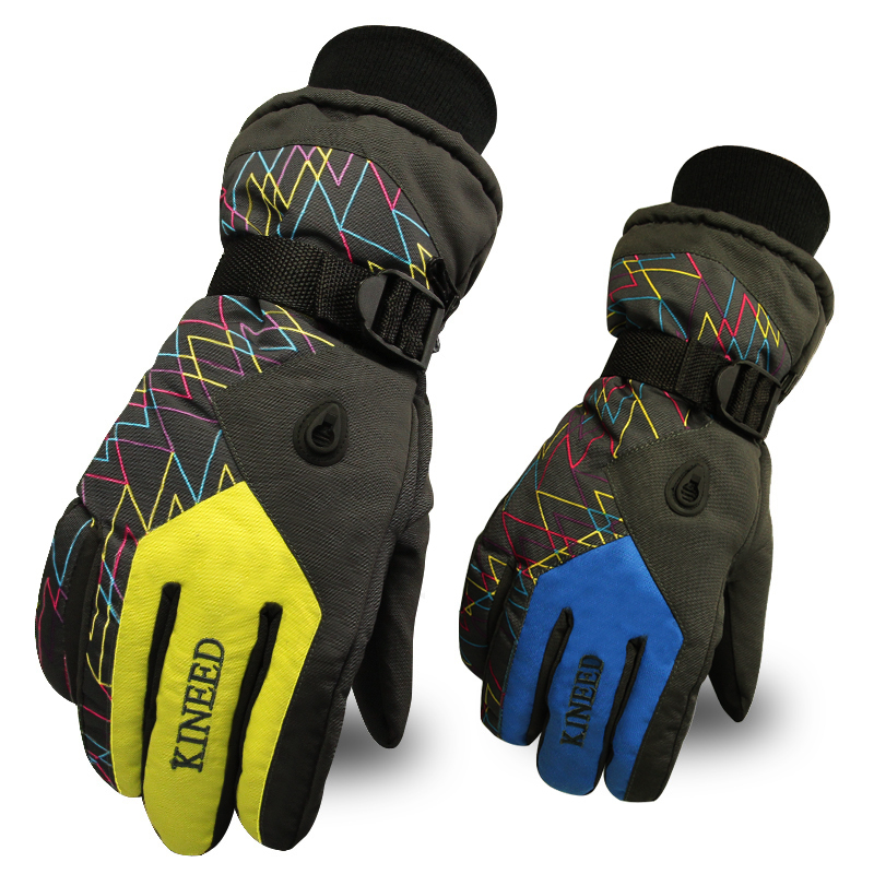 Ski Gloves Skiing Motorcycle Gloves 100% Waterproof Snowboard Gloves Winter Warm Windproof Protective Gloves Guantes Luvas