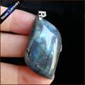 Promotion Natural Labradorite Gems Mini Pendant Drop Suspension Necklace Natural Stone Pendants Jewelry For Men's Collares GS506