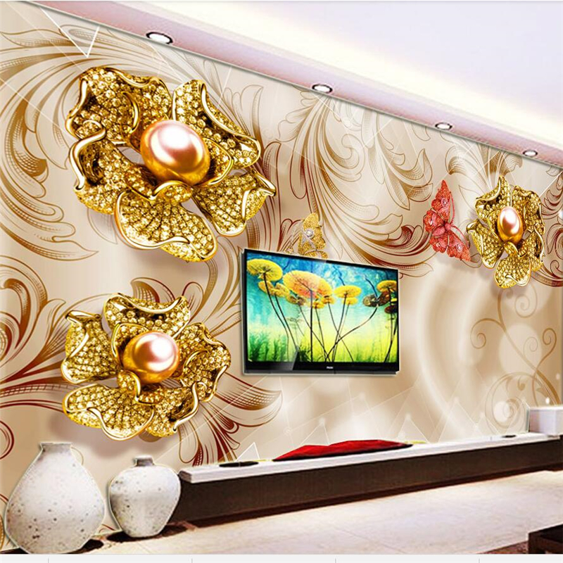 beibehang Custom mural papel de parede 3d stereo photo wallpaper home and rich diamond flower living room background wall paper custom 3d wall murals wallpaper luxury silk diamond home decoration wall art mural painting living room bedroom papel de parede