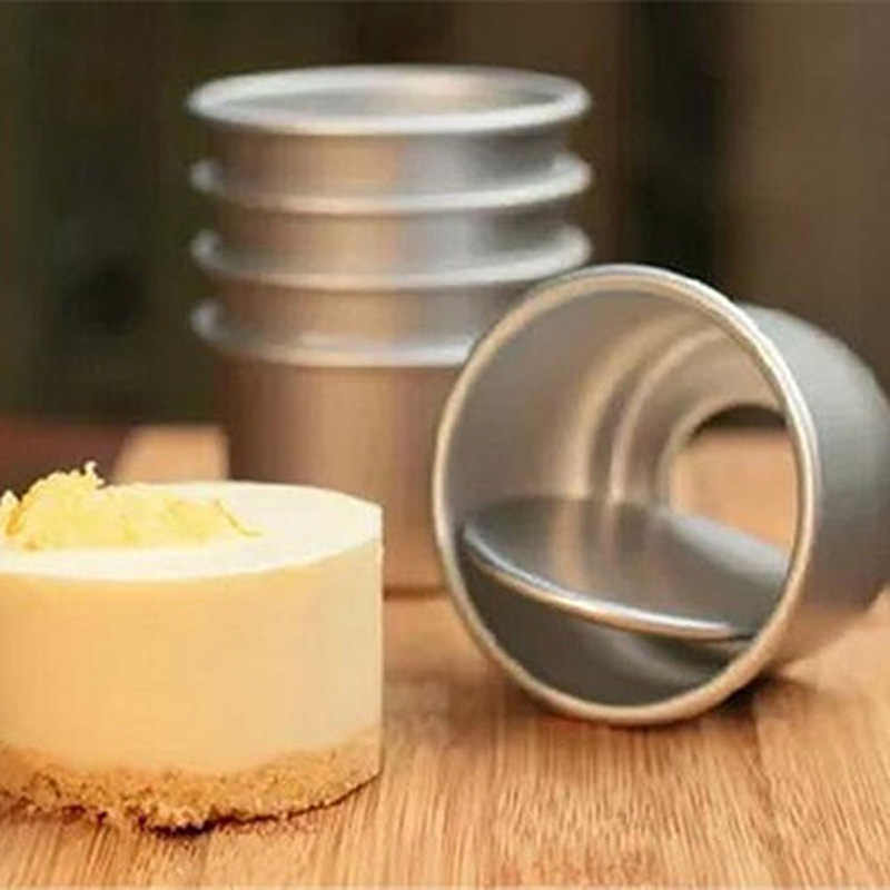 Mini aço inoxidável redonda mousse bolo de grau alimentício anel pastelaria molde cozimento