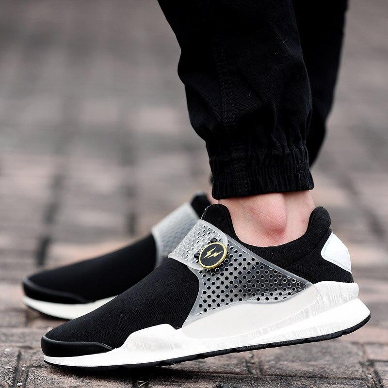 mens trendy shoes sock dart pu sole runner sneakes