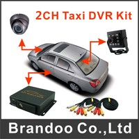2 Cameras Recorder System For Bus And Taxi Used Including 2pcs Camera And 2pcs 5 Meters