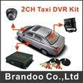 2 câmeras gravador system para ônibus e táxi usado, Incluindo 2 pcs câmera e 2 pcs 5 metros cabo de vídeo