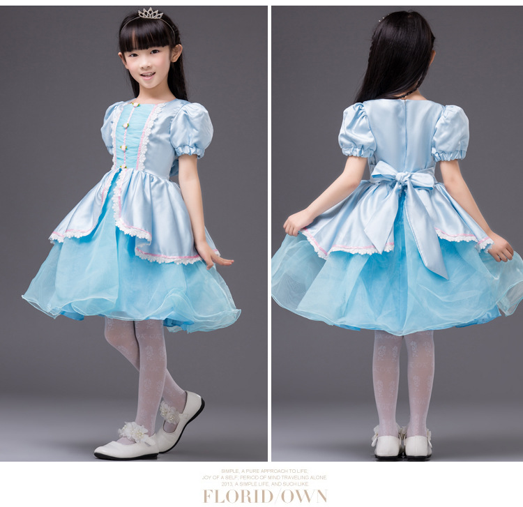 Snow White Cute Dress Kids Halloween/Christmas Costumes Princess Cinderella Cosplay Clothes For Girls Baby Performance Clothing