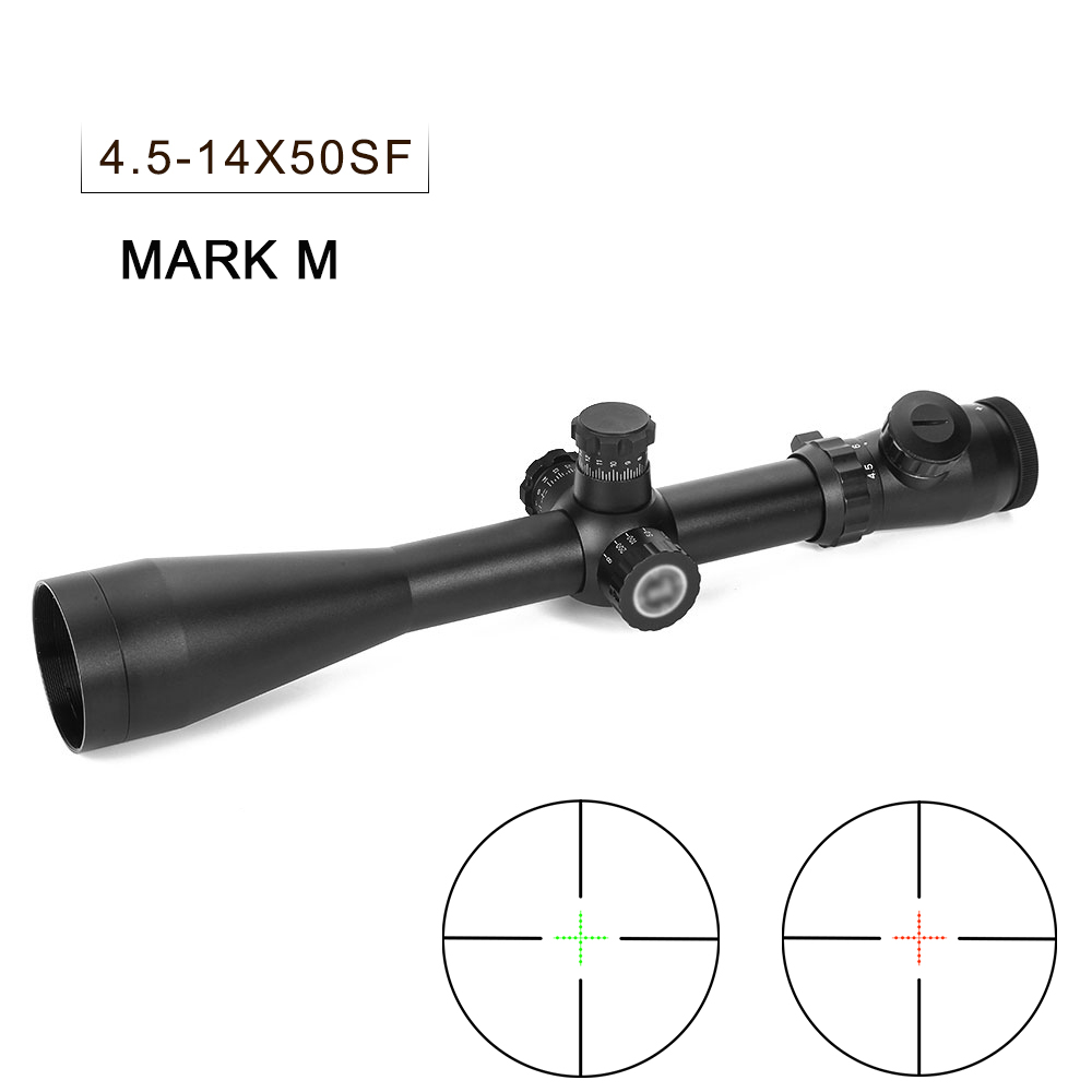 4.5-14X50SF Hunting Scope Red Green Dot Sight Adjustable Riflescope Fits 11mm&20mm Rail Mount For Airsoft Air Gun Rifle