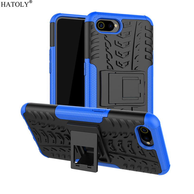 For Cover OPPO Realme C2 Case Anti-knock Heavy Duty Hard Armor Cover For Realme C2 Silicone Phone Bumper Case For OPPO Realme C2