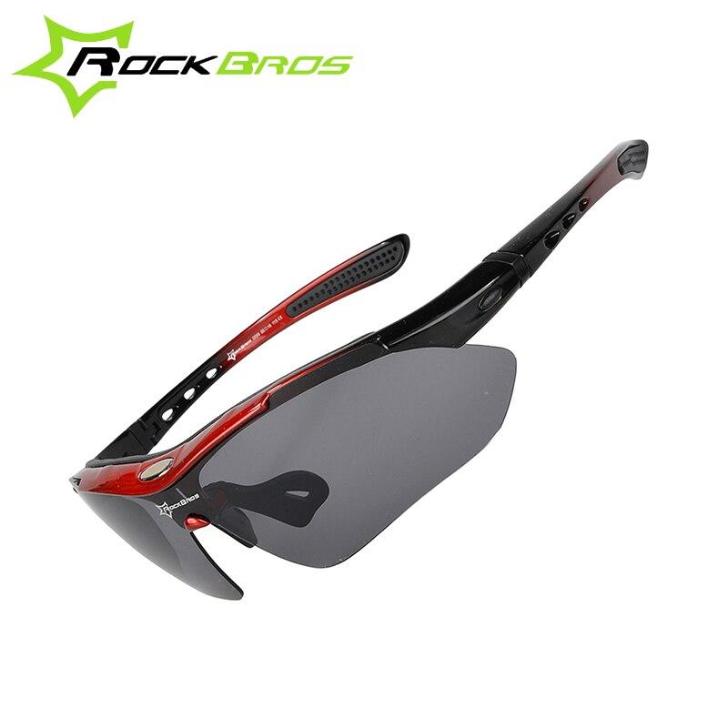 Prix pour Rockbros polarisées 5 lentilles sport lunettes de soleil vélo équitation en plein air vélo vtt ciclismo hommes femmes lunettes lunettes