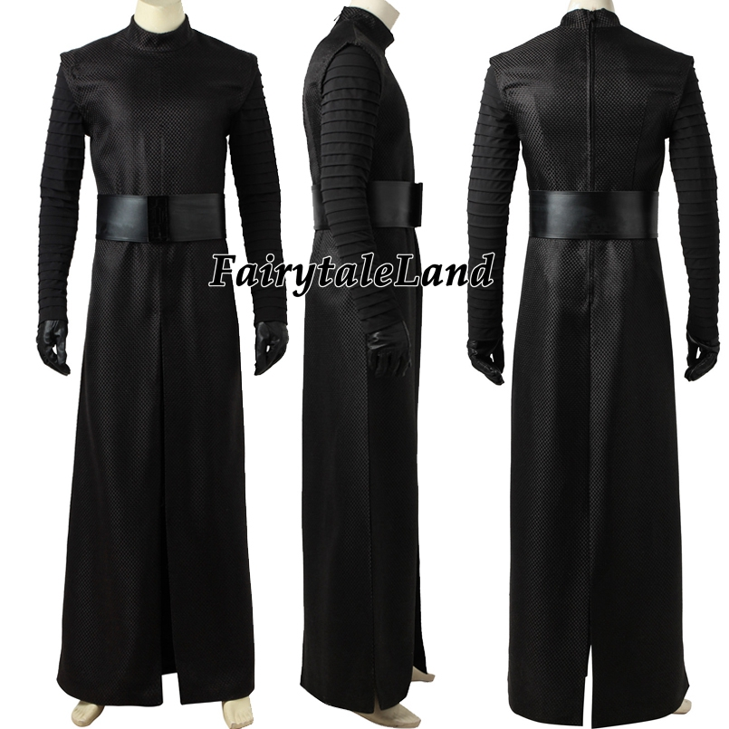 Image 3 - Star Wars The Force Awakens Kylo Ren Cosplay Costume Carnival Halloween Costumes Kylo Ren Cosplay battle suit custom made-in Movie & TV costumes from Novelty & Special Use