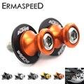 Pair Motorcycle Swingarm Spools Sliders Stand Screws 10mm for KTM Duke 125 200 350 690 990 EXC SMC Endure Orange Black Silver