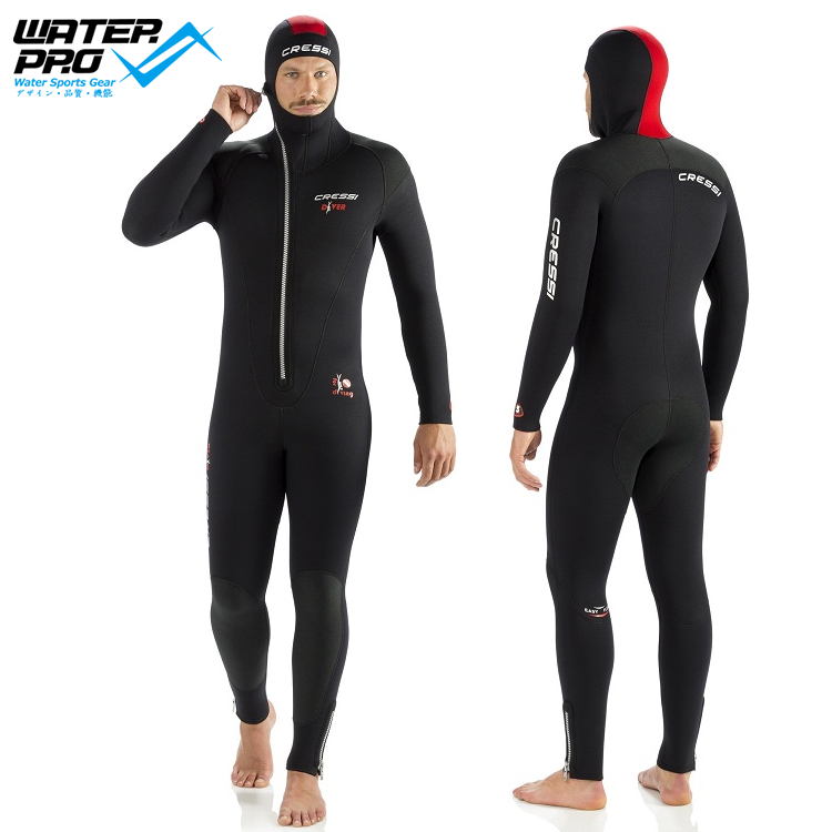 купить  Cressi DIVER 5MM WETSUIT with Hood MAN LADY Scuba Diving Snorkeling Water Sports  недорого