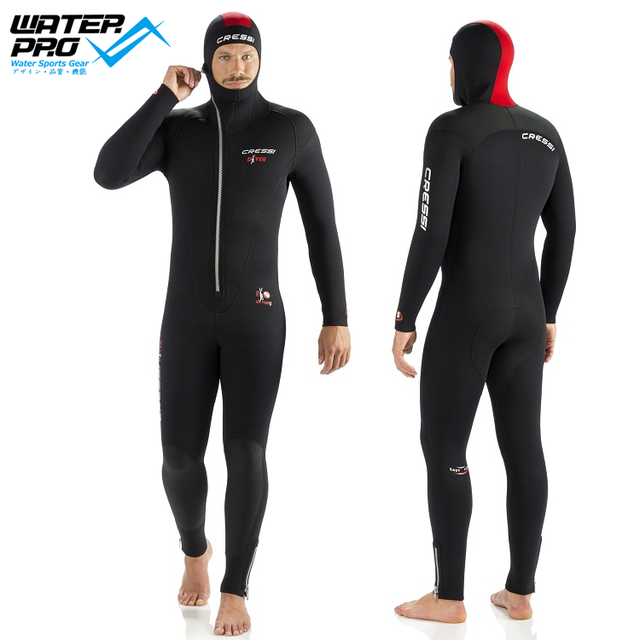 fe12fb9cce Cressi DIVER 5MM WETSUIT with Hood MAN LADY Scuba Diving Snorkeling Water  Sports