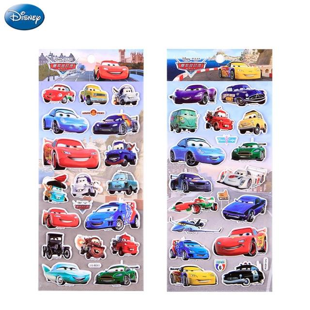 4pcs Cars Disney Cars 3 Stickers Lightning Mcqueen Laptop Notebook