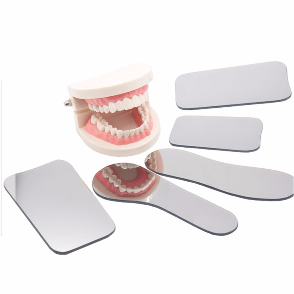 Dental Intraoral Occlusal 2 Sided Photographic Glass Mirror Oral Health Care цена