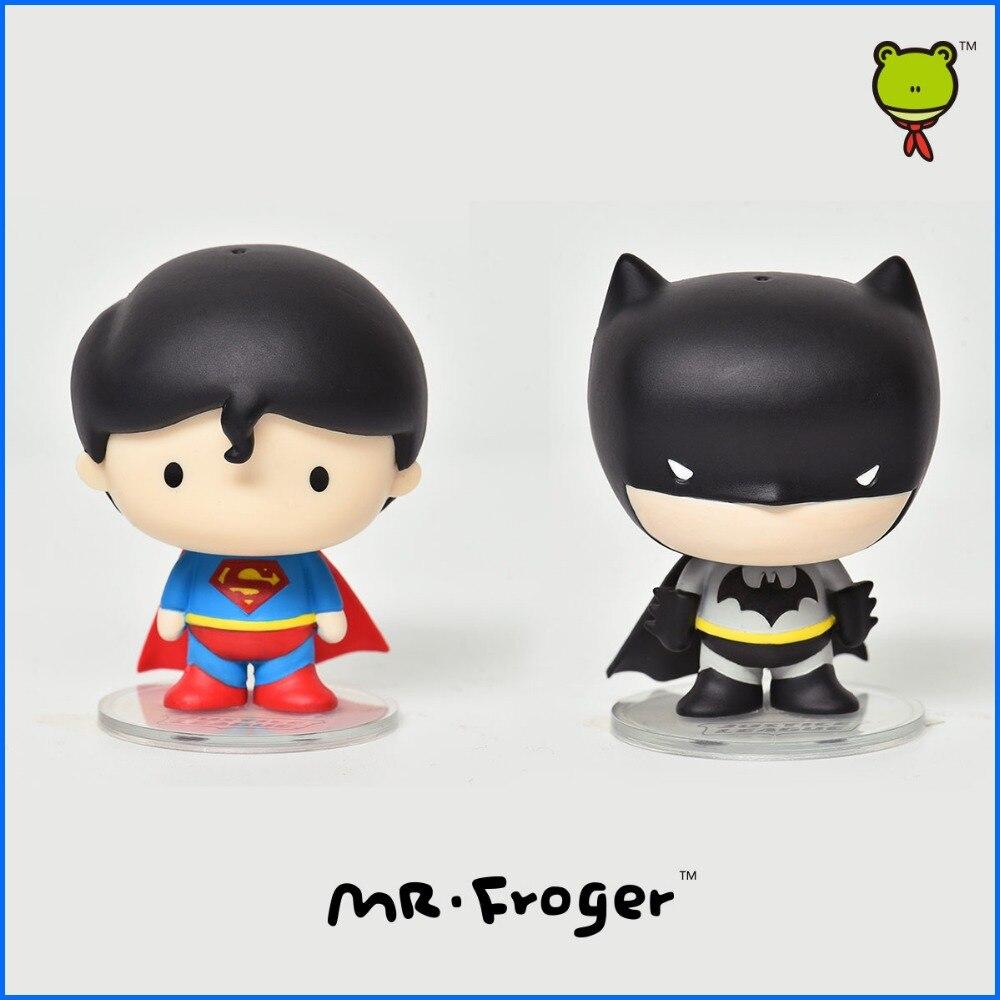 Mr.Froger DC Comics <font><b>Justice</b></font> League 5cm Action Figure <font><b>Batman</b></font> <font><b>v</b></font> <font><b>Superman</b></font> <font><b>Dawn</b></font> <font><b>of</b></font> <font><b>Justice</b></font> Pendant Q edition style Decoration gift