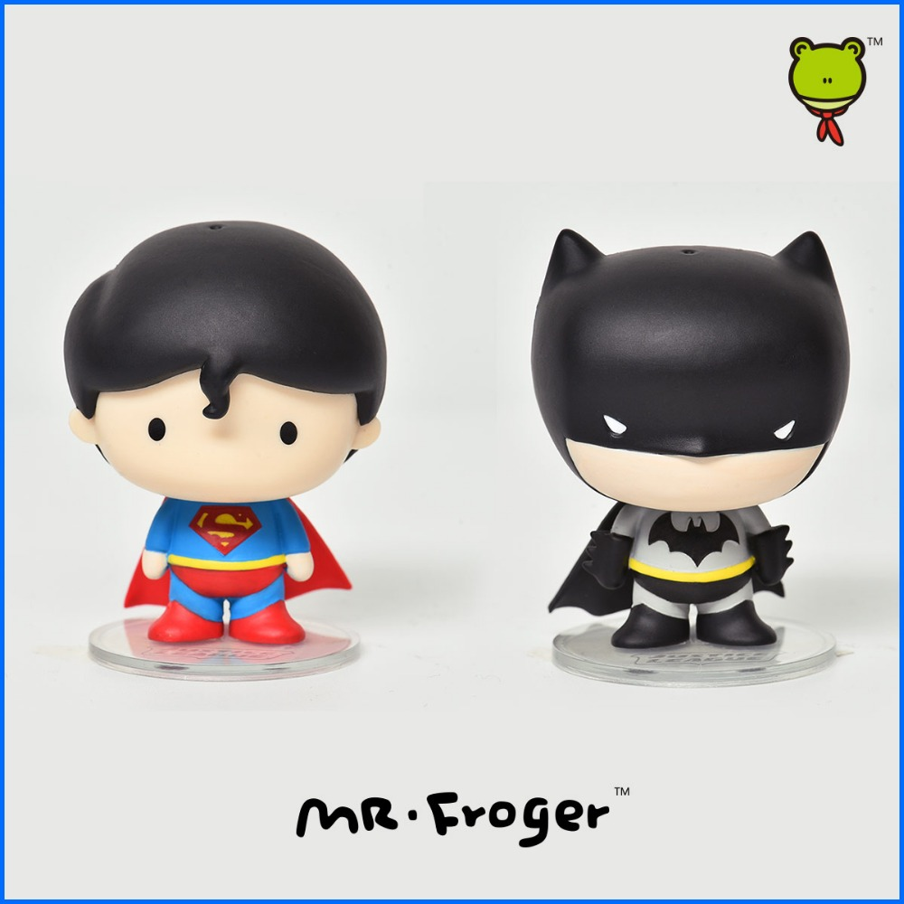 Mr.Froger <font><b>DC</b></font> <font><b>Comics</b></font> Justice League 5cm Action <font><b>Figure</b></font> Batman v <font><b>Superman</b></font> Dawn of Justice Pendant Q edition style Decoration gift