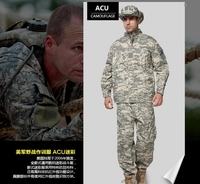 ACU Camouflage Suit Sets Army Military Uniform Combat Airsoft Uniform Jacket & Pants Army Tactical Uniform