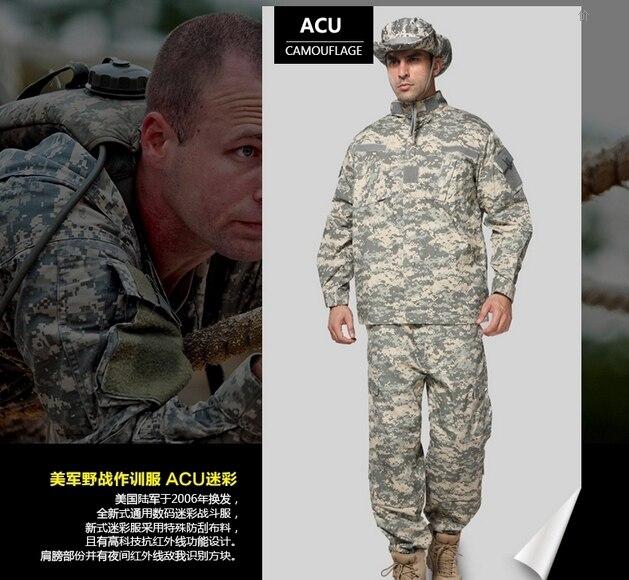 ACU Camuflagem Terno Define Militar Do Exército Uniforme de Combate Airsoft  Uniforme Jacket   Pants Uniforme Do Exército Tático caaef31236