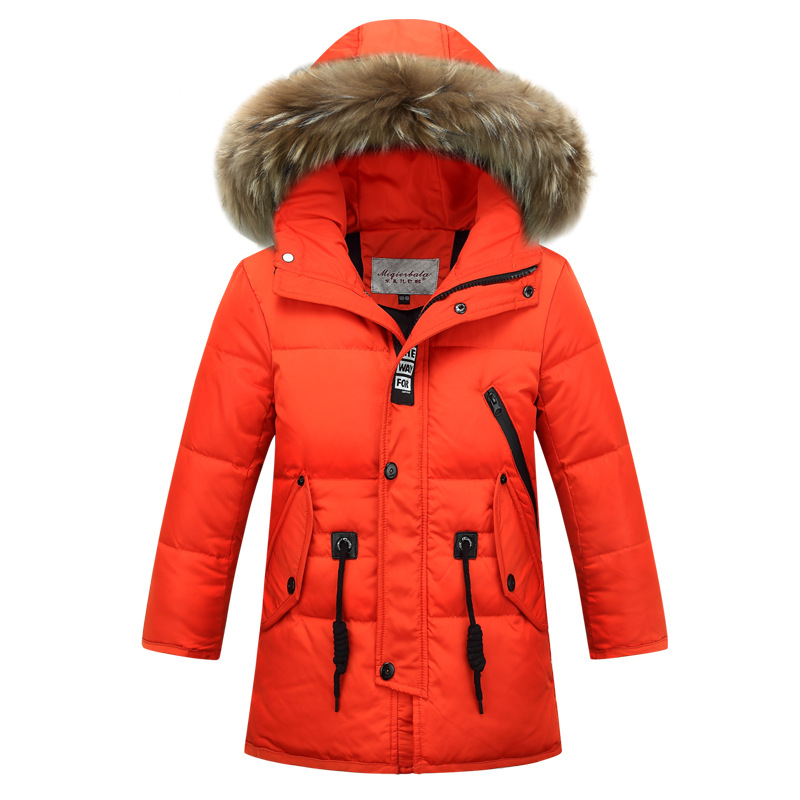 Brand Fashion Children's Down Jackets/coat winter fur Big boy Coat thick duck Down feather jacket Outerwear cold winter-30degree a15 girls down jacket 2017 new cold winter thick fur hooded long parkas big girl down jakcet coat teens outerwear overcoat 12 14