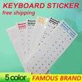 Golooloo 5 colors Letters Waterproof Super Durable Russian Keyboard Stickers Alphabet For Laptop General Keyboard 10'' inch