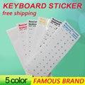 Golooloo Letras 5 cores Waterproof Keyboard Russo Super Durável Adesivos Alfabeto Para Laptop Teclado Geral 10 ''polegadas