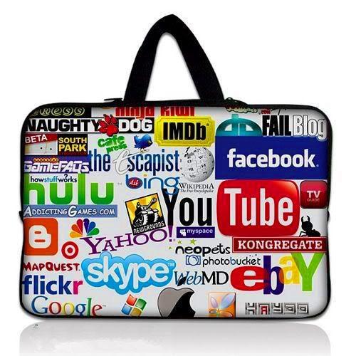 f2d4ed74f43 7 10 12 13 14 15 17.3 cal Internet Logo Na Laptopa wodoodporna Torba Etui  Pokrowiec Tablet Skrzynki Pokrywa Dla ASUS Dell HP 15.6 13.3