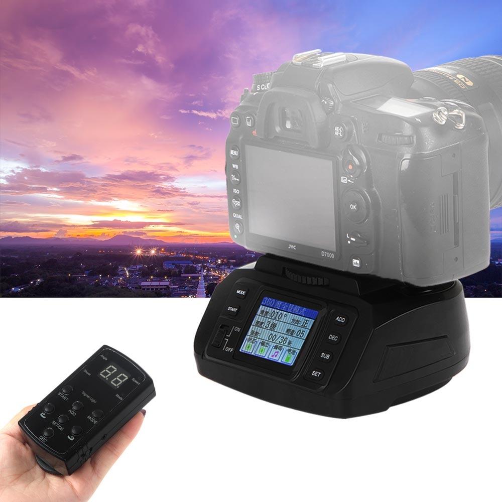 Automática de 360 Graus Panorâmica Câmera Tripé Cabeça Ballhead Motorizado Eletrônico + Remoto para Canon Nikon Pentax DSLR