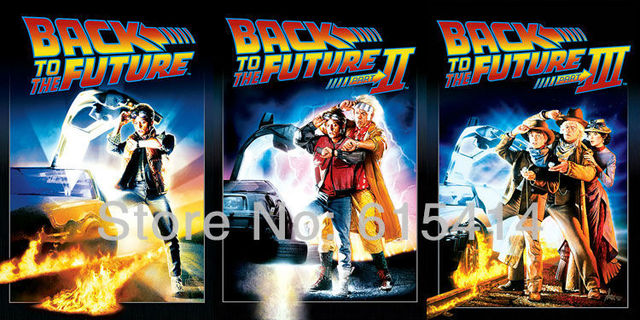 Back to the Future Part I II III all in movie 48''x24'' wall Poster with Tracking Number