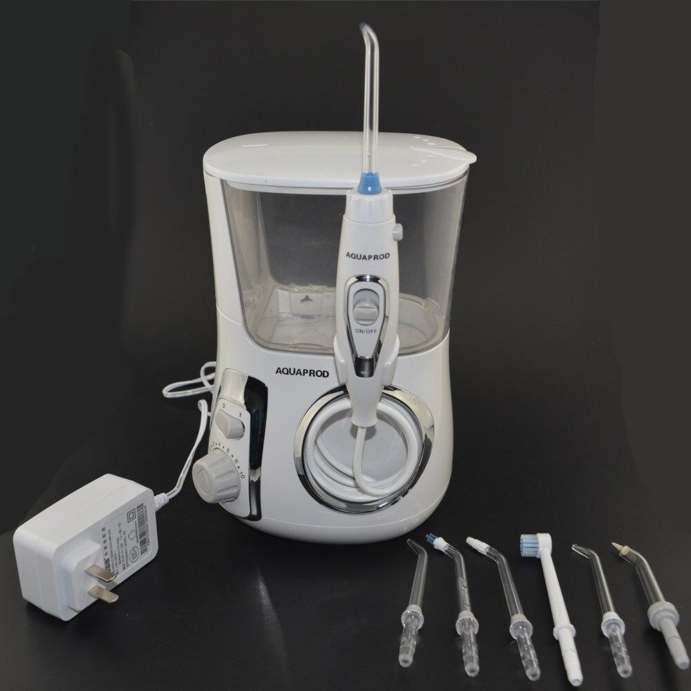 Irrigateur Oral nettoyeur de dents à ultrasons fil d'eau nettoyage des dents 600 ml réservoir d'eau brosse à dents dent choisir Jet d'eau dentaire