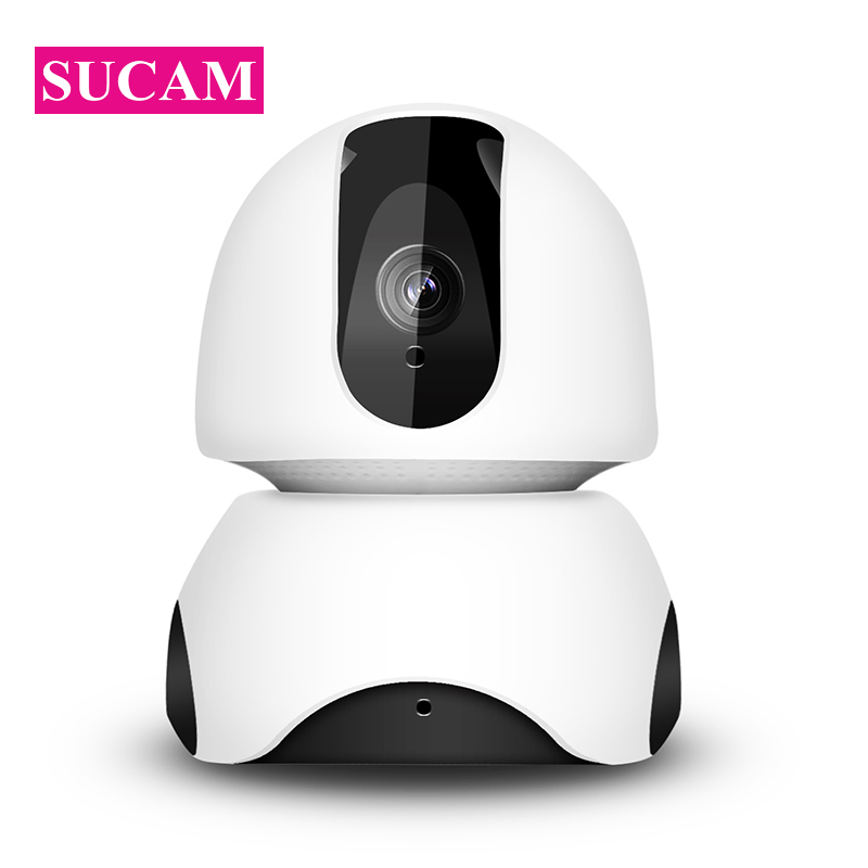 SUCAM Mini 2MP Wireless PT IP Camera Indoor 360 Degree Angle Night Vision Motion Detection Alarm Baby Monitor 1080P Camera