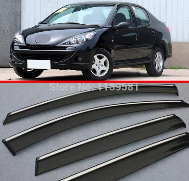 Para Peugeot 207 2010 2011 2012 2013 2014 a Janela Do Vento Defletor Visor Chuva/Sun Guard Ventilação