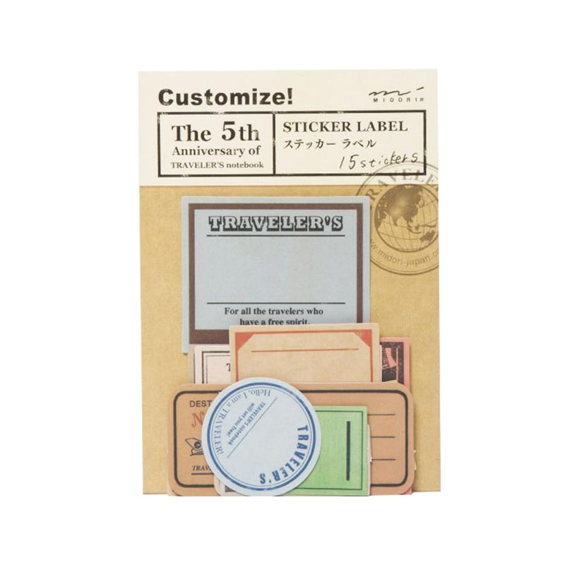 Vintage Travel Stamp Paper Notebook Decorative Sticker Diary Stickers Midori Traveler's Notebook Memo Pad