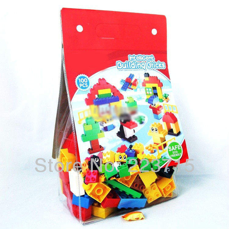 Children's day *Creative Pack 100 pcs* DIY enlighten block bricks,Compatible With Duplo Assembles Particles free shipping the tian an men diy enlighten block bricks compatible with other assembles particles