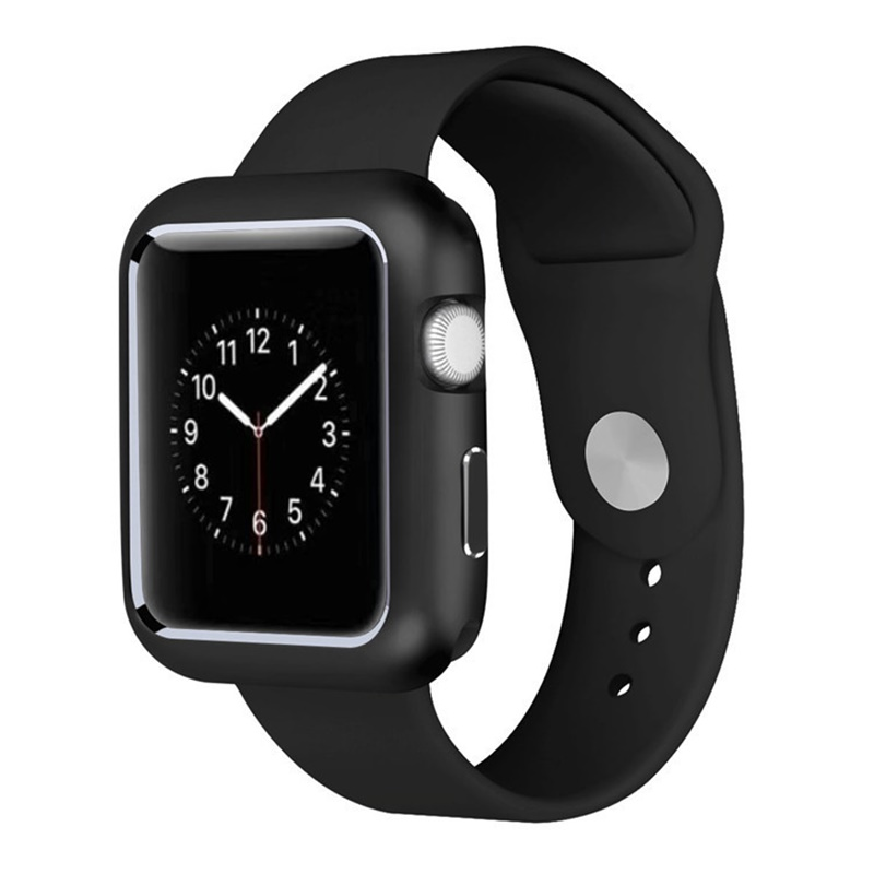 best website 6e71f 73ac0 US $4.96 29% OFF|Magnetic Adsorption Case For Iphone IWatch 4 Series 40MM  44MM Metal Bumper Case Built in Magnet For Iphone Watch 1/2/3 38MM 42MM-in  ...