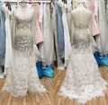 Luxury Mermaid Wedding Dress With Feather 2017 Beaded Rhinestones Sexy Bridal Party Gowns Fairytale Princess Robe De Mariage