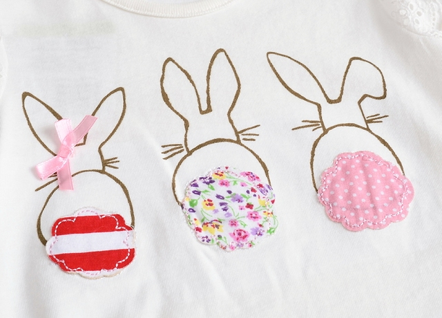 VIDMID baby Girl t-shirt big Girls tees t shirts children blouse t-shirts super quality kids summer clothes rabbit pink brand
