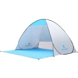 KEUMER Автоматическая мгновенная всплывающая палатка для отдыха на открытом воздухе, Пляжная палатка, анти-УФ-защита для рыбалки, пешего туриз...