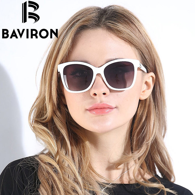 38bc791284 BAVIRON HD Polarized Sunglasses Women Luxury Design Butterfly Style Sun  Glasses Fashion Square Women Sunglasses Free