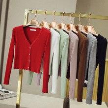 2016 Contrast Spring Autumn Women All Match Cardigan Outerwear Long Sleeve Slim Shrug V-neck Short Knitted Sweaters Coat Cape цены онлайн